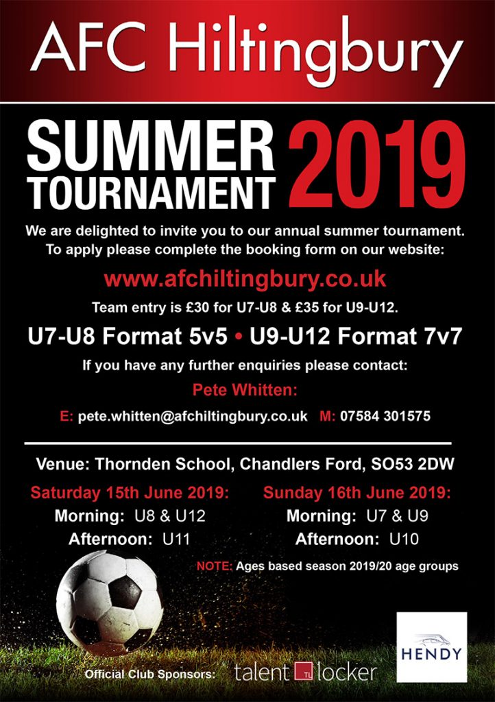 AFCH 2019 Tournament – AFC Hiltingbury